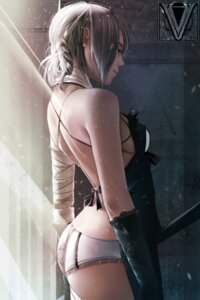Rating: Questionable Score: 110 Tags: ass bandages kaine_(nier) mr-vy nier no_bra pantsu underboob User: mash