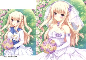 Rating: Safe Score: 51 Tags: bra-ban! cleavage dress hibarigaoka_yuki sayori seifuku wedding_dress User: Twinsenzw