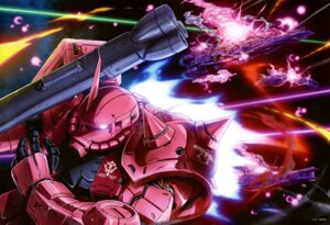 Rating: Questionable Score: 10 Tags: gundam ms-06_zaku_ii User: drop