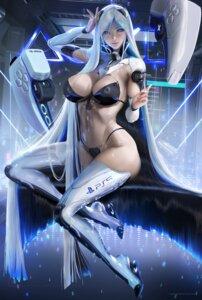 Rating: Questionable Score: 34 Tags: bikini_armor heels mecha_musume os-tan ps5-tan sakimichan thighhighs User: ImPixel