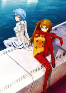 Rating: Questionable Score: 48 Tags: ayanami_rei bodysuit neon_genesis_evangelion redjuice souryuu_asuka_langley User: Shamensyth