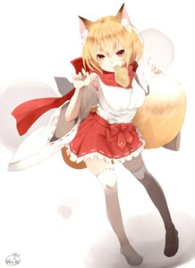 Rating: Safe Score: 48 Tags: animal_ears chita_(ketchup) kitsune tail thighhighs User: Mr_GT