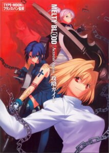 Rating: Safe Score: 6 Tags: arcueid_brunestud ciel cropme melty_blood michael_roa_valdamjong riesbyfe_stridberg screening thighhighs tsukihime type-moon User: Irysa