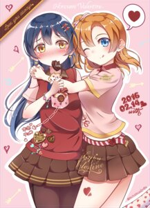 Rating: Safe Score: 26 Tags: kousaka_honoka love_live! minamixdrops pantyhose sonoda_umi valentine User: Mr_GT