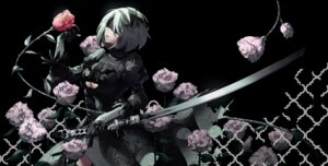 Rating: Safe Score: 43 Tags: cleavage dress nier_automata sword tsurukame yorha_no.2_type_b User: Mr_GT