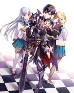 Rating: Safe Score: 11 Tags: armor heels momoshiki seifuku sword tagme thighhighs User: saemonnokami