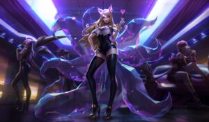 Rating: Safe Score: 33 Tags: ahri animal_ears cleavage heels kitsune league_of_legends leotard tagme tail thighhighs User: samuelp