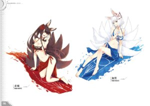 Rating: Questionable Score: 22 Tags: akagi_(azur_lane) animal_ears azur_lane bacai_tidu bikini kaga_(azur_lane) kitsune swimsuits tail User: Twinsenzw