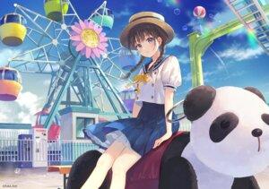 Rating: Safe Score: 49 Tags: fukahire_sanba seifuku skirt_lift User: hiroimo2