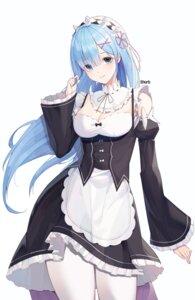 Rating: Safe Score: 21 Tags: cleavage maid pantyhose re_zero_kara_hajimeru_isekai_seikatsu rem_(re_zero) shurb_05 skirt_lift User: Dreista