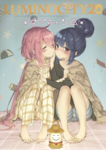 Rating: Safe Score: 46 Tags: bike_shorts feet kagamihara_nadeshiko pajama peco shima_rin yuri yurucamp User: Twinsenzw