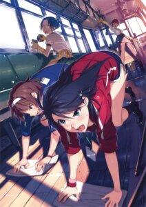 Rating: Safe Score: 121 Tags: gono_hitomi gym_uniform megane rail_wars! sakurai_aoi_(rail_wars!) vania600 User: Twinsenzw