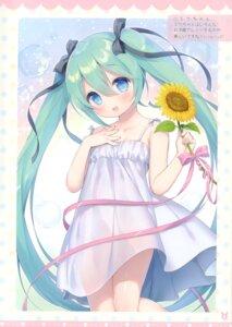 Rating: Questionable Score: 24 Tags: dress hatsune_miku summer_dress usashiro_mani vocaloid User: kiyoe
