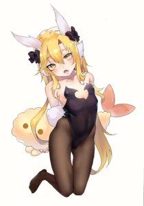 Rating: Questionable Score: 8 Tags: animal_ears bunny_girl loli moya_(pixiv6121219) no_bra pantyhose tail User: KazukiNanako