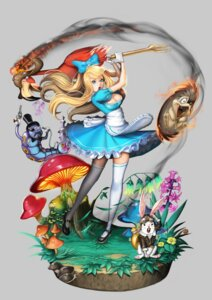 Rating: Safe Score: 30 Tags: alice alice_in_wonderland cleavage dress silvester thighhighs User: eridani