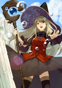 Rating: Safe Score: 18 Tags: houmatu_awa thighhighs weapon witch User: Mr_GT