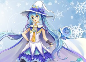 Rating: Safe Score: 22 Tags: byakuya_reki dress hatsune_miku signed vocaloid weapon witch yuki_miku User: charunetra