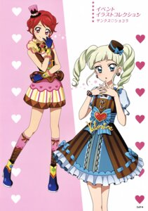 Rating: Questionable Score: 6 Tags: aikatsu! dress heels ichinose_kaede toudou_yurika valentine User: Radioactive