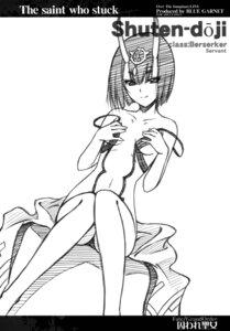 Rating: Questionable Score: 12 Tags: breast_hold fate/grand_order horns monochrome no_bra pantsu serizama_katsumi shuten_douji_(fate/grand_order) sketch User: nphuongsun93