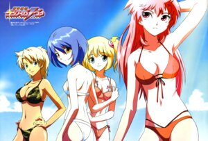 Rating: Questionable Score: 13 Tags: ass bikini cleavage dancouga_nova eida_rossa hidaka_aoi seimii swimsuits tachibana_kurara tadano_kazuko User: vita