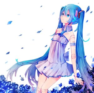 Rating: Safe Score: 22 Tags: dress hatsune_miku headphones makishimu vocaloid User: charunetra