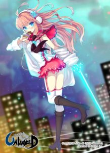Rating: Safe Score: 29 Tags: headphones juke megane stockings thighhighs User: blooregardo