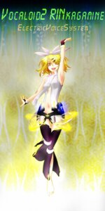 Rating: Safe Score: 5 Tags: 18 kagamine_rin rin_append thighhighs vocaloid User: Radioactive