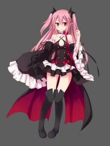 Rating: Safe Score: 70 Tags: cleavage dress gu_ge krul_tepes owari_no_seraph pointy_ears thighhighs User: charunetra