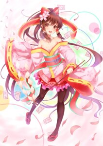 Rating: Safe Score: 51 Tags: cleavage dabadhi hakurei_reimu pantyhose touhou yukata User: Nekotsúh