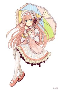 Rating: Safe Score: 23 Tags: dress lolita_fashion megurine_luka pantyhose sakura_oriko umbrella vocaloid User: Spidey