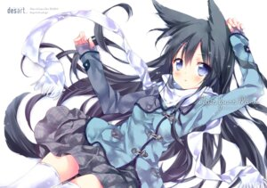 Rating: Safe Score: 75 Tags: animal_ears ech kitsune seifuku tail thighhighs User: KazukiNanako