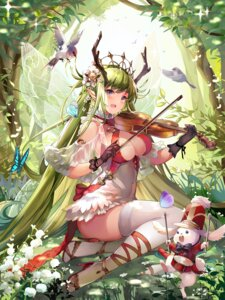 Rating: Safe Score: 64 Tags: cleavage heels horns issign pointy_ears shadowverse thighhighs User: Mr_GT