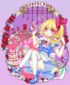 Rating: Safe Score: 21 Tags: alice_in_wonderland crossover flandre_scarlet heels pastel_(iero-guri-nn) thighhighs touhou wings User: Mr_GT