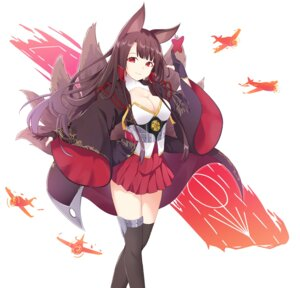 Rating: Safe Score: 45 Tags: akagi_(azur_lane) animal_ears azur_lane cleavage noven tail thighhighs User: Nepcoheart
