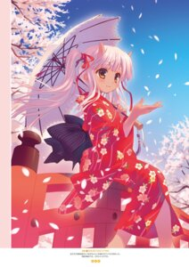 Rating: Safe Score: 45 Tags: digital_version horns santa_matsuri umbrella yukata User: Twinsenzw