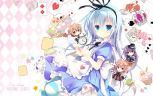 Rating: Safe Score: 51 Tags: akatsuki_(kancolle) alice_in_wonderland animal_ears bunny_ears chibi crossover dress gothic_lolita hibiki_(kancolle) ikazuchi_(kancolle) inazuma_(kancolle) kantai_collection lolita_fashion neko shirogane_hina thighhighs User: Mr_GT