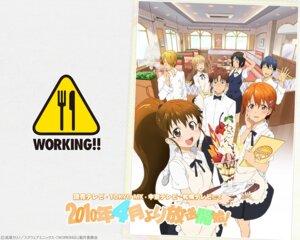 Rating: Safe Score: 11 Tags: inami_mahiru satou_jun shirafuji_kyouko souma_hiroomi takanashi_souta taneshima_poplar todoroki_yachiyo waitress wallpaper working!! User: hecfa