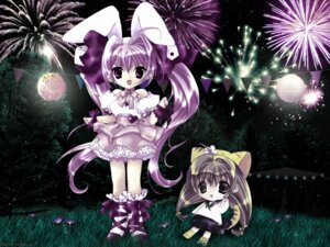 Rating: Safe Score: 3 Tags: di_gi_charat hikaru_usada puchiko rabi_en_rose wallpaper User: Chibi
