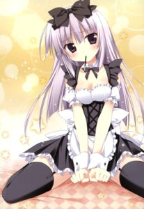 Rating: Safe Score: 71 Tags: airi_(alice_or_alice) alice_or_alice_siscon_nii-san_to_futago_no_imouto cleavage korie_riko maid stockings thighhighs User: Twinsenzw