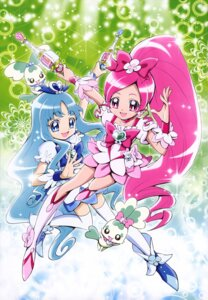 Rating: Safe Score: 5 Tags: chypre coffret dress hanasaki_tsubomi heartcatch_pretty_cure! kamikita_futago kurumi_erika pretty_cure thighhighs weapon User: drop
