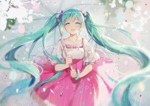 Rating: Safe Score: 45 Tags: dress hatsune_miku kikikiki umbrella vocaloid User: charunetra