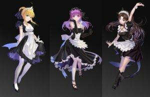Rating: Safe Score: 19 Tags: fate/stay_night heels maid matou_sakura saber toosaka_rin vanink User: Mr_GT
