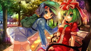 Rating: Questionable Score: 19 Tags: dress kagiyama_hina kawashiro_nitori see_through spirtie thighhighs touhou User: osufaith