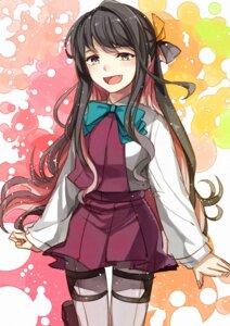 Rating: Safe Score: 19 Tags: kanmiya_shinobu kantai_collection naganami_(kancolle) pantyhose seifuku User: charunetra