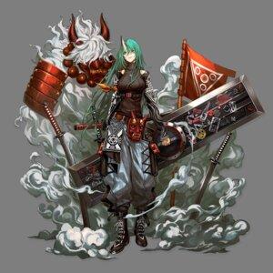 Rating: Safe Score: 19 Tags: arknights horns hoshiguma_(arknights) infukun sword transparent_png User: Nepcoheart
