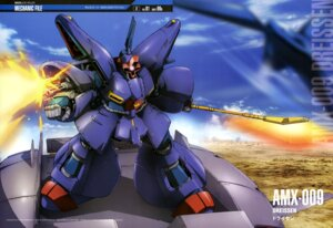 Rating: Safe Score: 7 Tags: gun gundam gundam_zz landscape mecha sword washikita_kyouta weapon zeta_gundam User: drop
