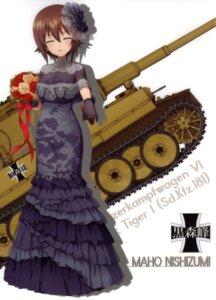 Rating: Safe Score: 29 Tags: dress girls_und_panzer nishizumi_maho silhouette User: drop