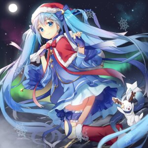 Rating: Safe Score: 80 Tags: alexmaster christmas garter hatsune_miku vocaloid yuki_miku User: Mr_GT