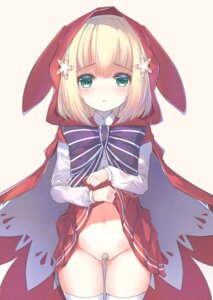 Rating: Questionable Score: 31 Tags: bandaid cameltoe grimms_notes hibari_hina little_red_riding_hood_(grimms_notes) loli maebari nopan skirt_lift thighhighs User: yanis