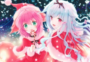 Rating: Safe Score: 45 Tags: animal_ears christmas cuteg lily_(w&l) tail wanko wanko_to_lily User: yong